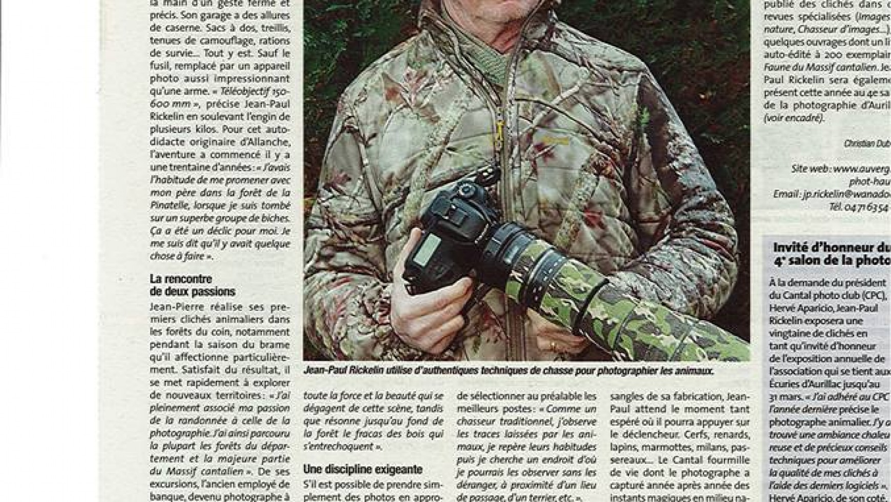 Jean-Paul Rickelin, le chass'images