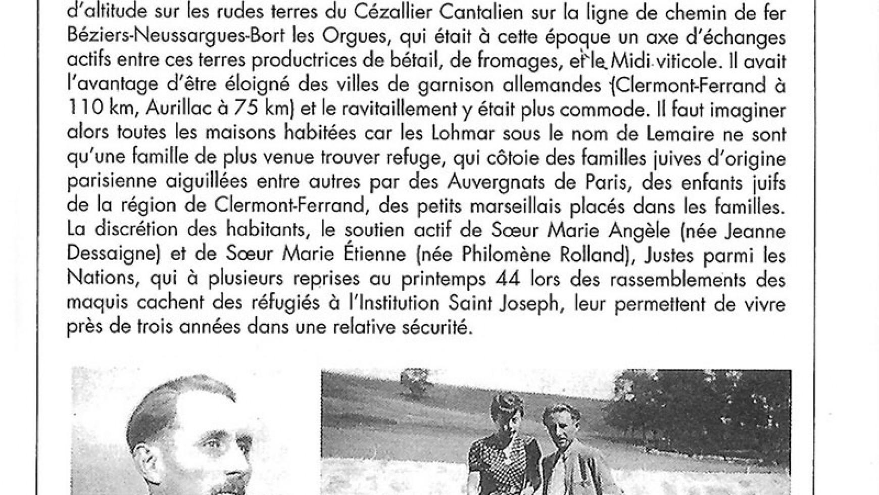Les Lohmar à Allanche (1942-1945)