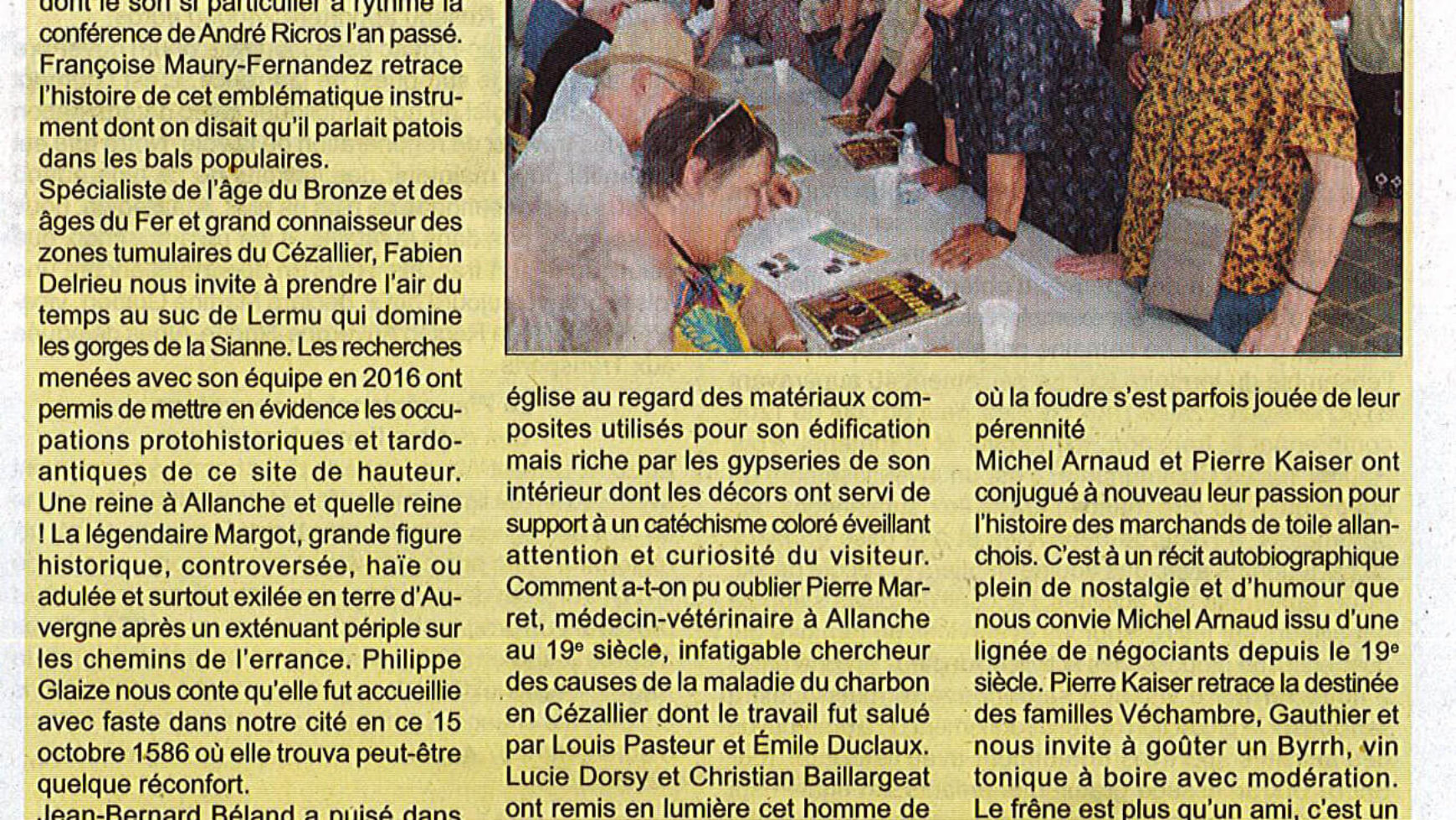 Cézallier, au portes du temps – Le Réveil Cantalien – 19 juillet 2019