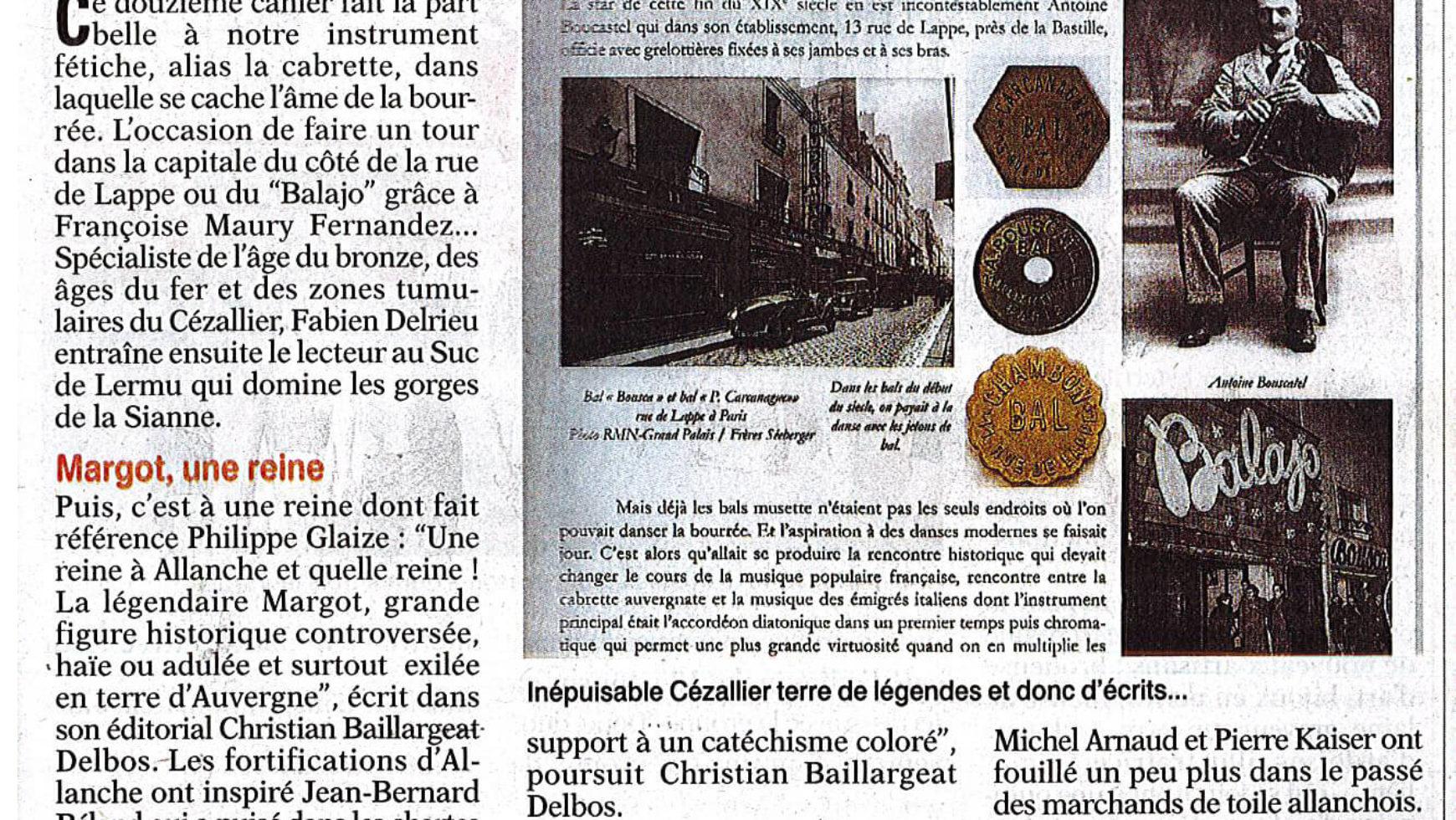 Cézallier, au portes du temps – L'Union du Cantal 14-17 août 2019