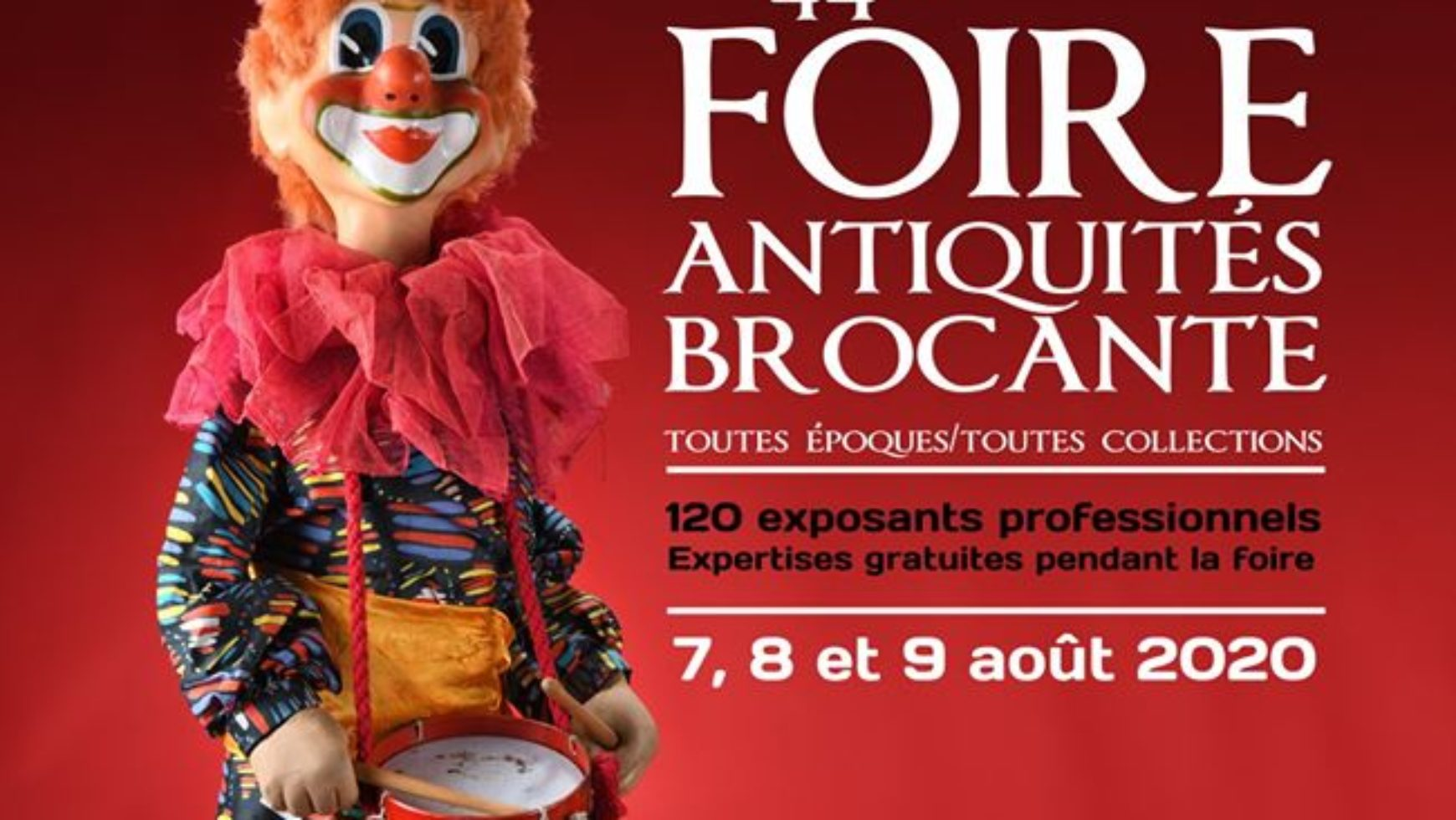 Foire à la brocante et aux antiquités – Allanche – 2020 – 44è édition
