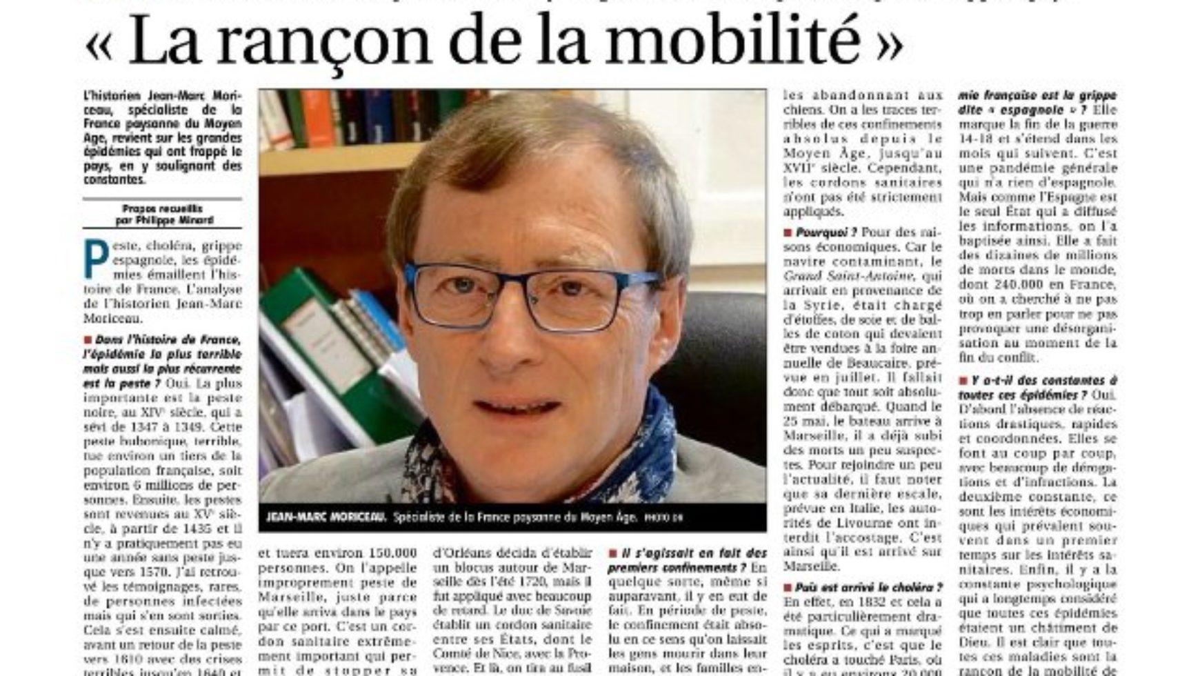 Interview de notre ami Jean-Marc Moriceau – La Montage 22 mars 2020