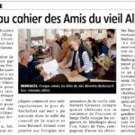 «Nouveau cahier des Amis du vieil Allanche»- La Montagne – 30 juillet 2021 / Allanche
